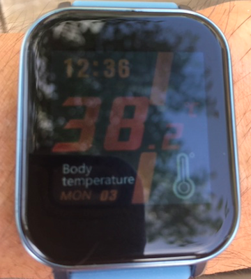 体温測定スマートウォッチ